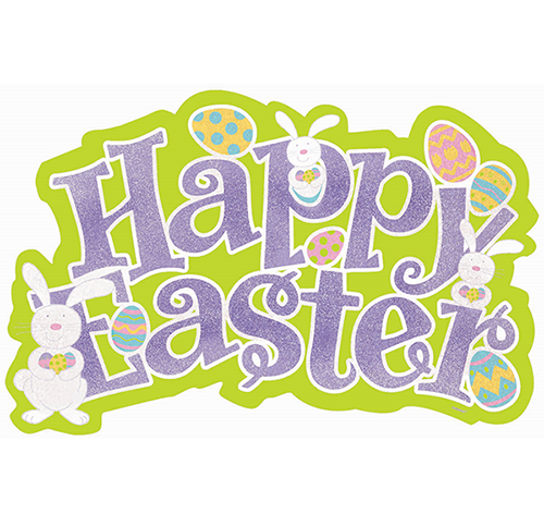 Easter Cutout Glittered Large