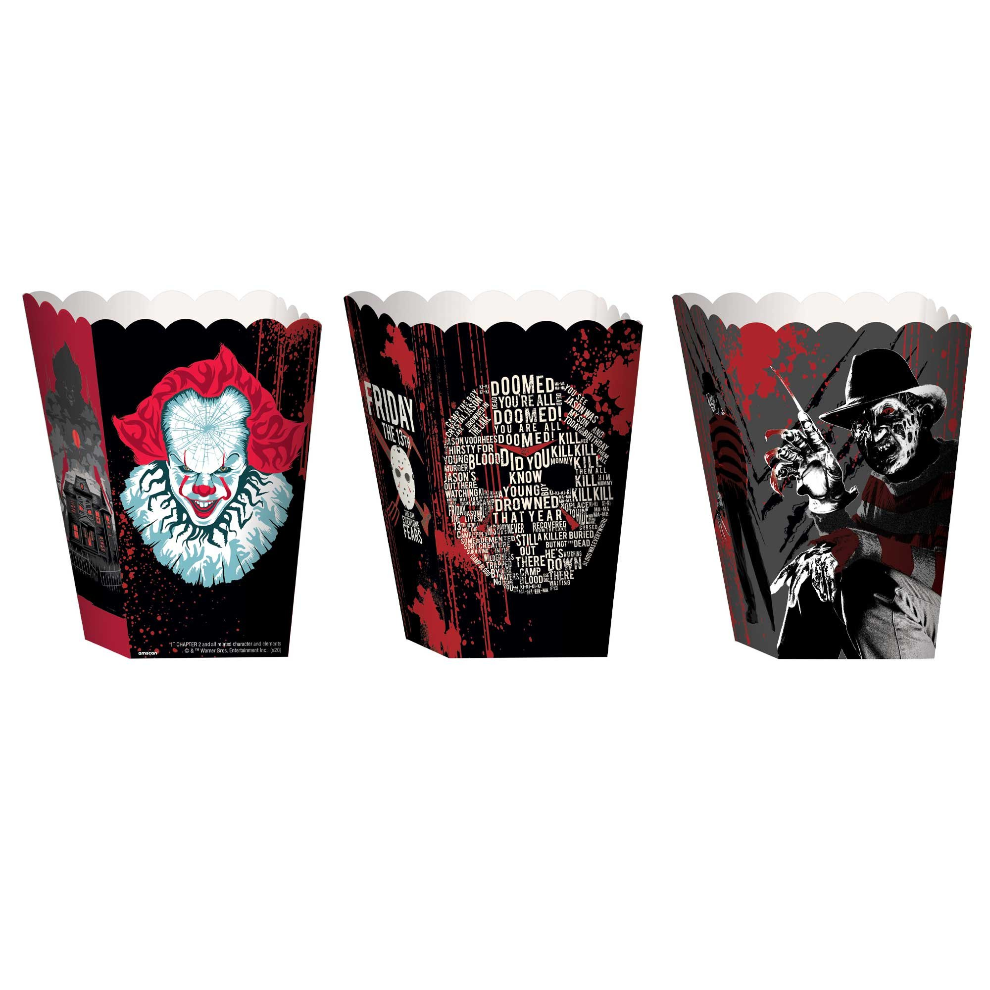 Horror Popcorn Boxes Warner Brothers Assorted Designs