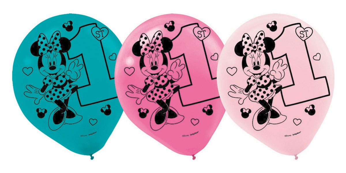 Minnie Fun To Be One Printed 30cm Latex Balloons