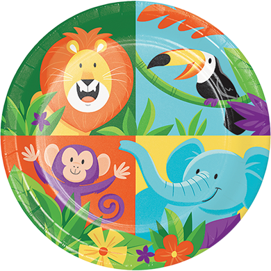 Jungle Safari Lunch Plates Paper 18cm