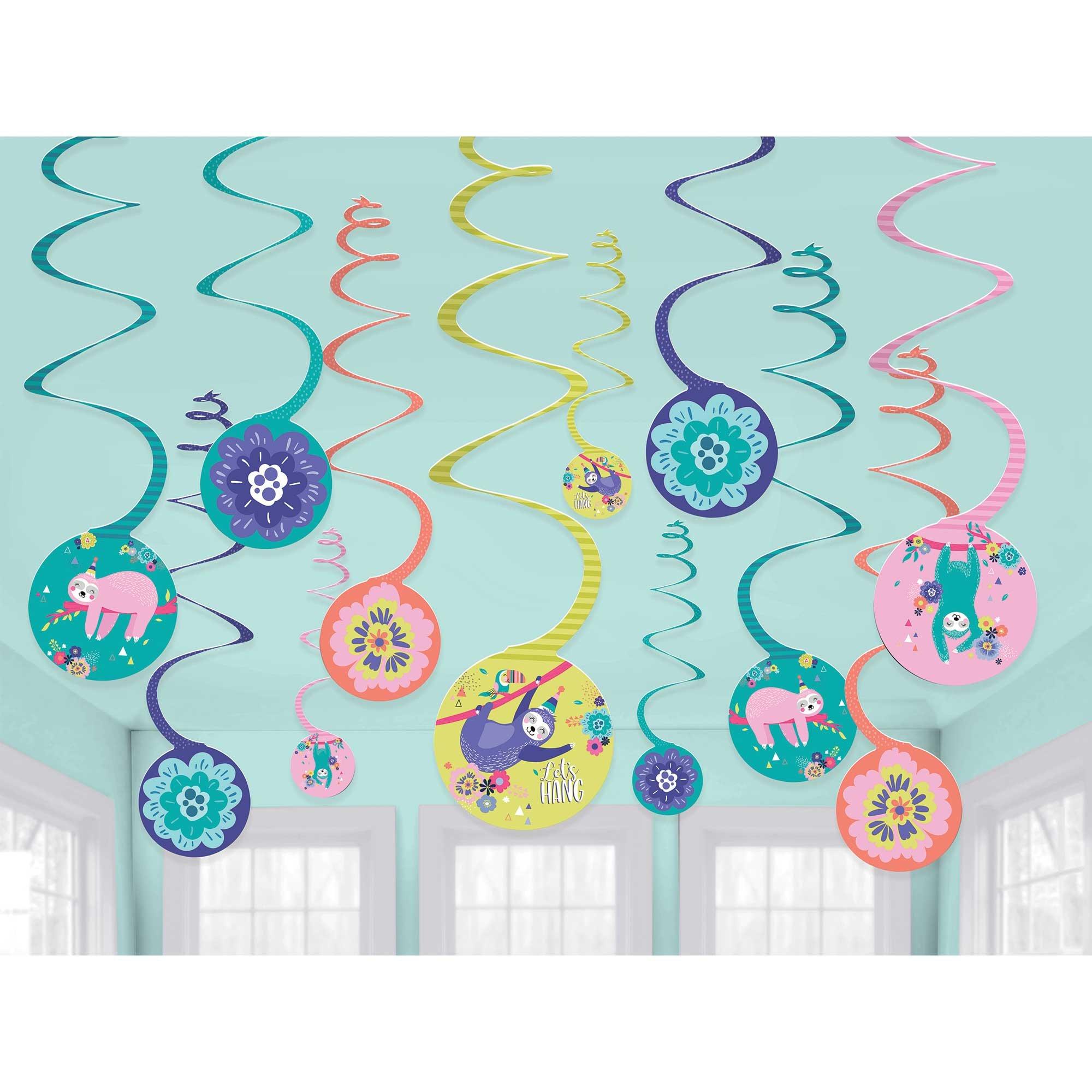 Sloth Spiral Hanging Decorations Value Pack