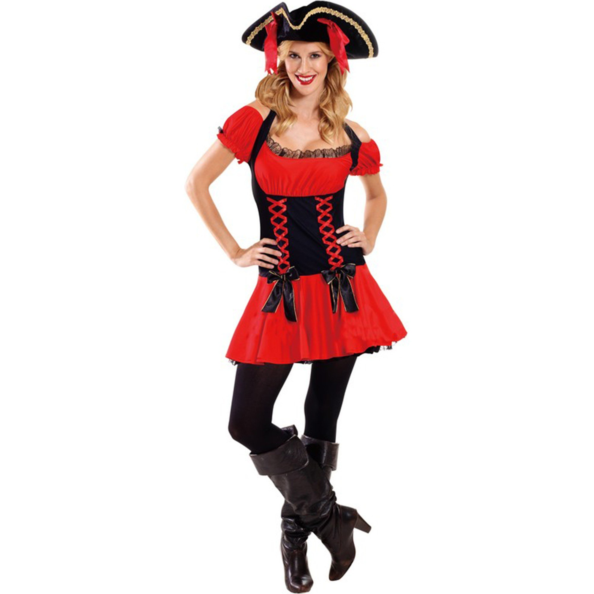Deluxe Pirate Girl Costume Large - Adult