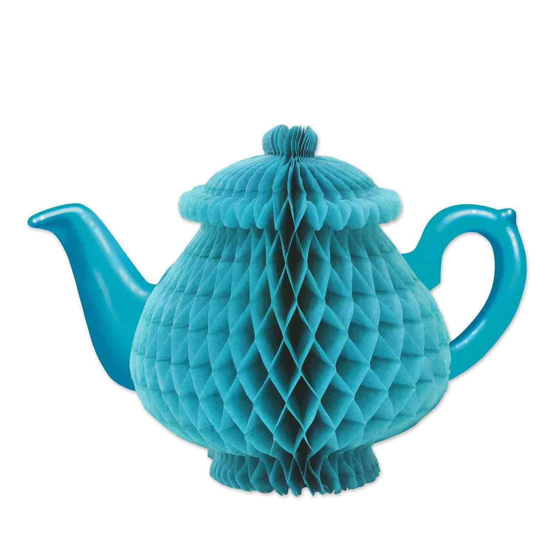Teapot Blue Honeycomb Centrepiece