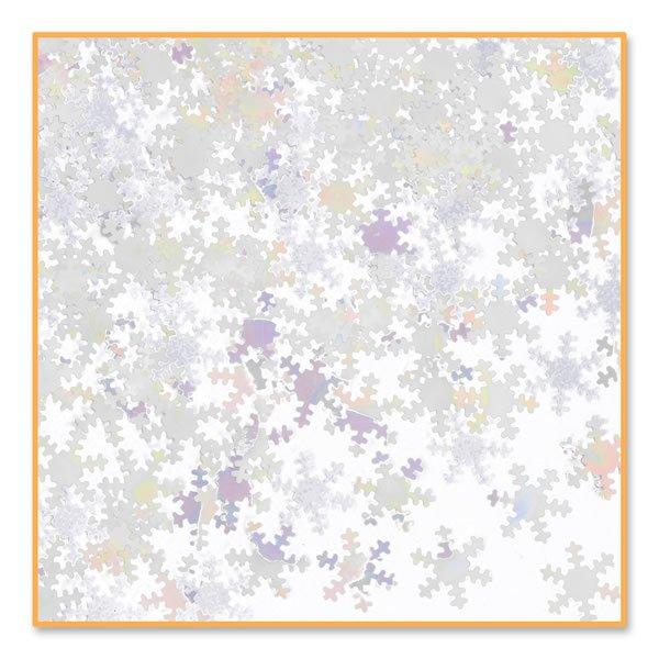 Iridescent Snowflakes Confetti