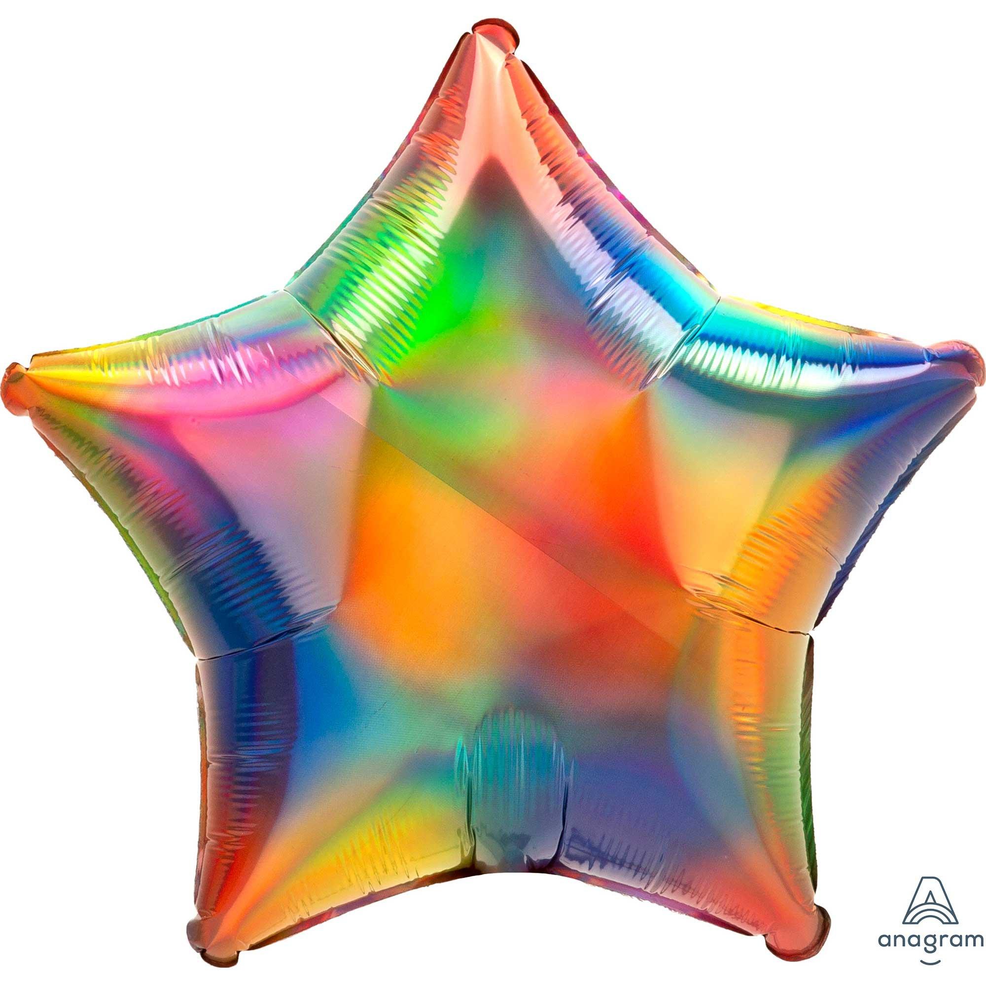 45cm Standard Holographic Iridescent Rainbow Star S40