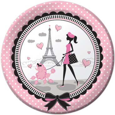 Party in Paris Dinner Plates Paper