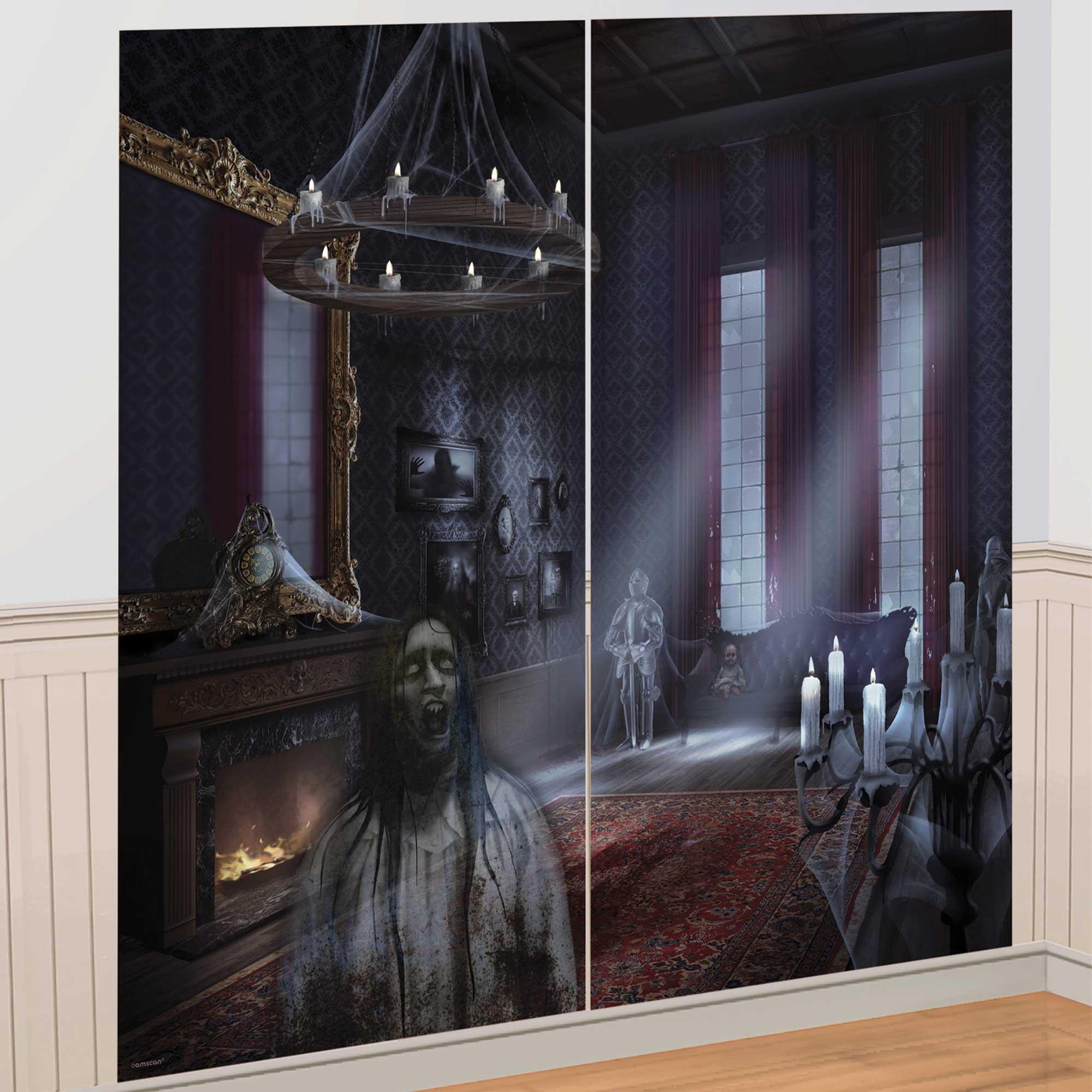 Dark Manor Scene Setters Wall Decorating Kit Plastic