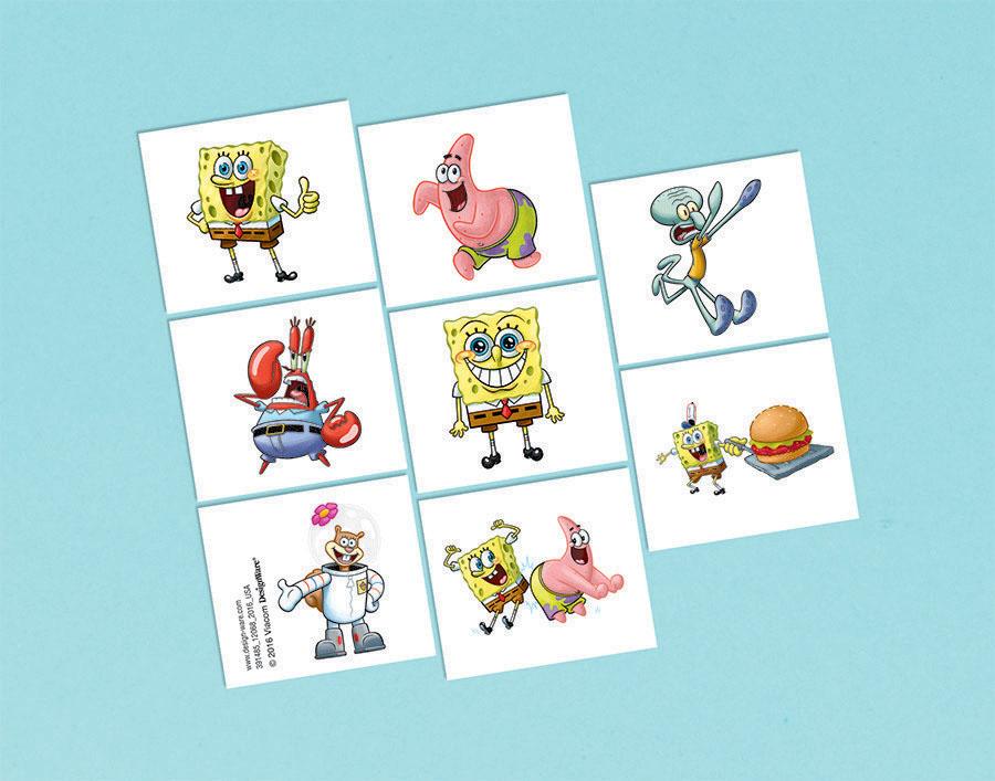 Spongebob Tattoo Favors