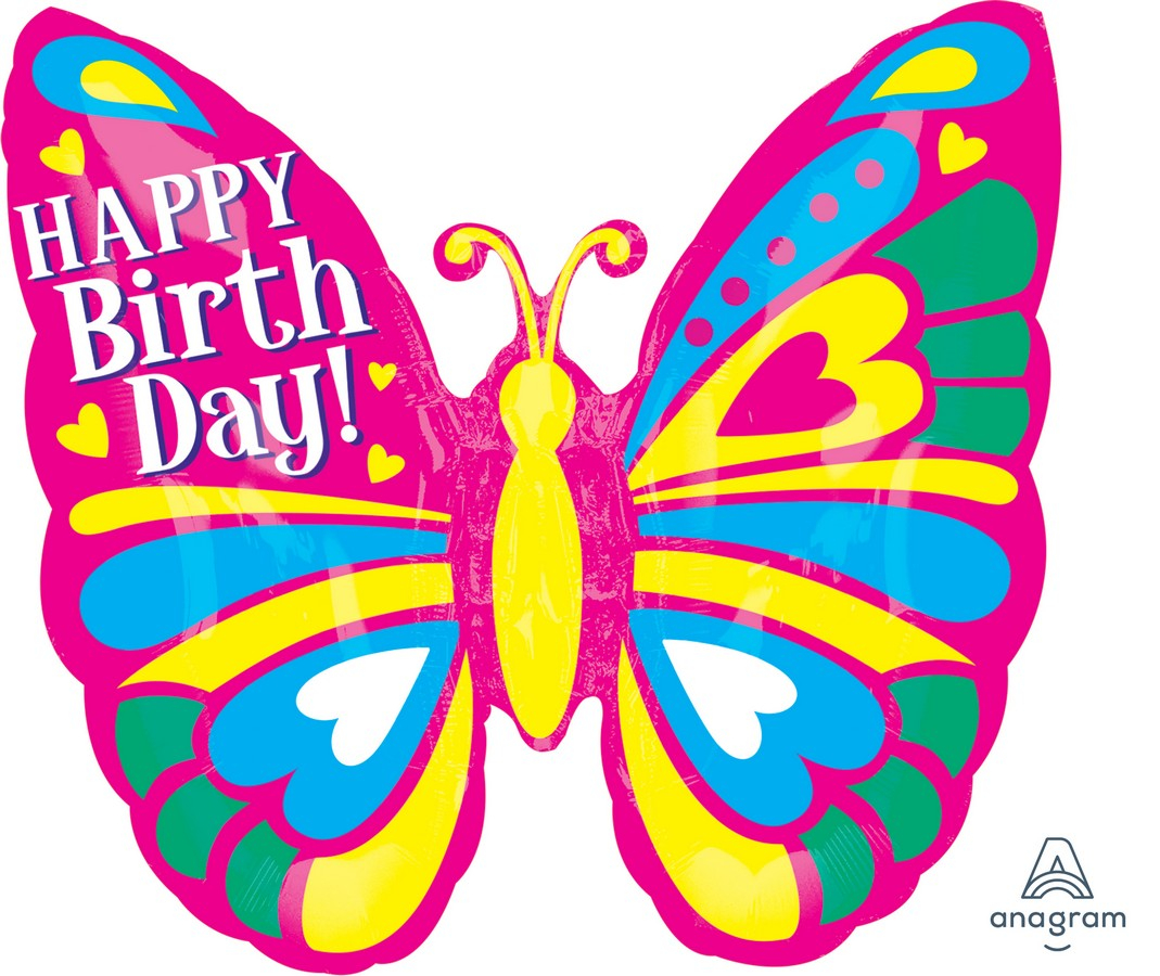 SuperShape ColorBlast XL Happy Birthday Butterfly P40