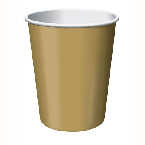 Glittering Gold Cups Paper 266ml