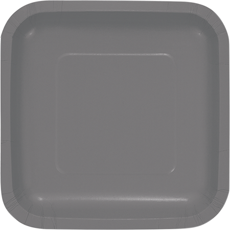 Glamour Gray Square Lunch Plates Paper 18cm