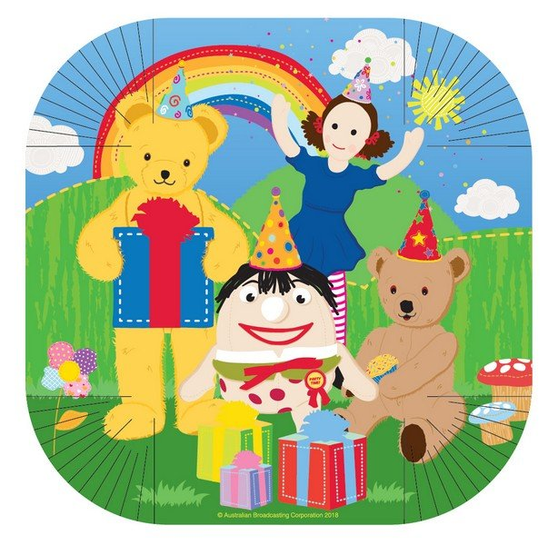 """Play School 7""""/17cm Square Plates"