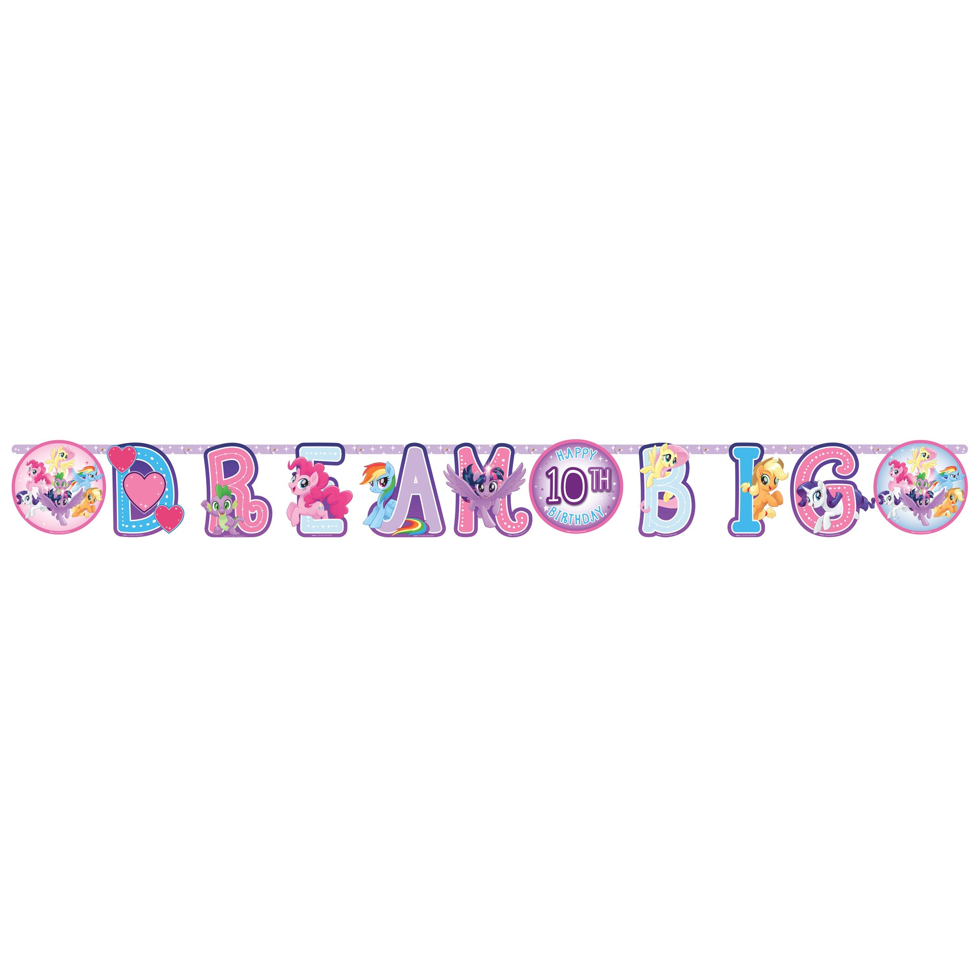 My Little Pony Friendship Adventures Jumbo Add-An-Age Letter Banner