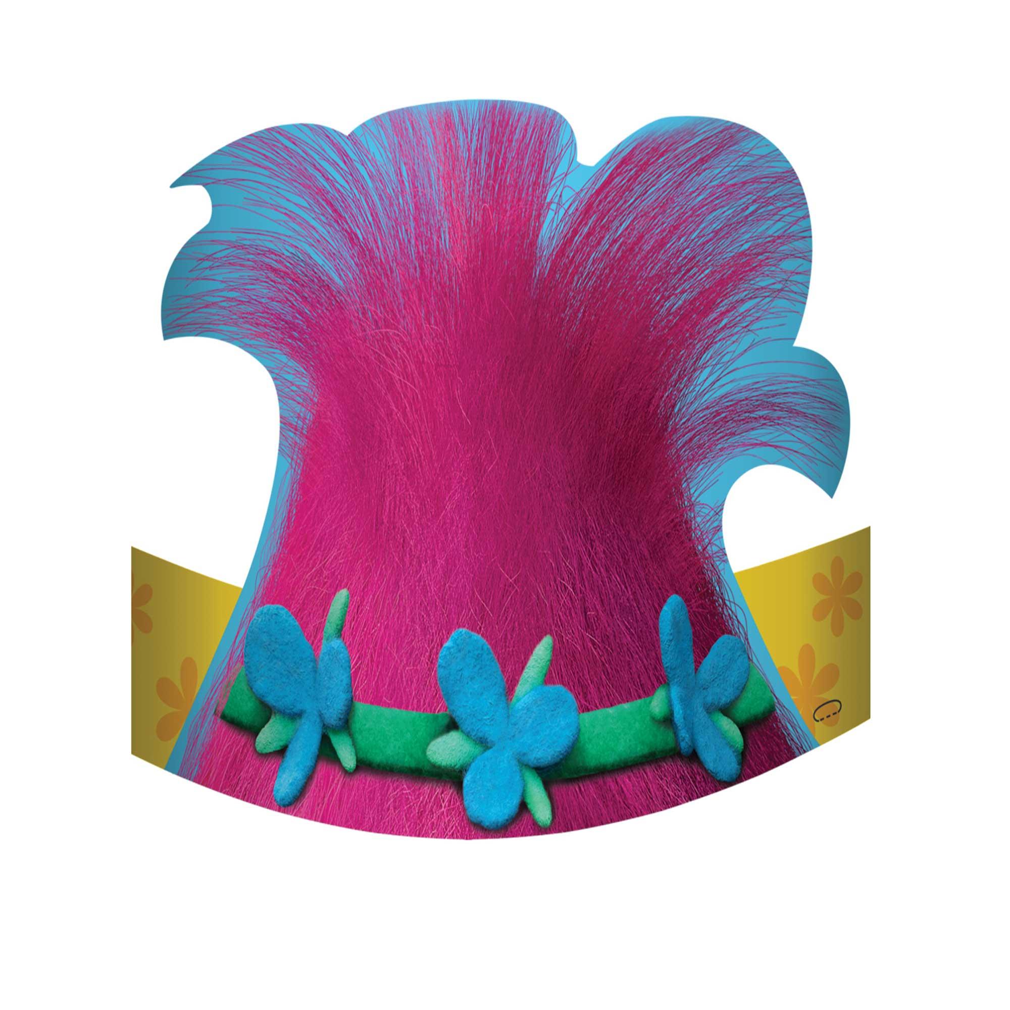 Trolls Die Cut Cardboard Hats
