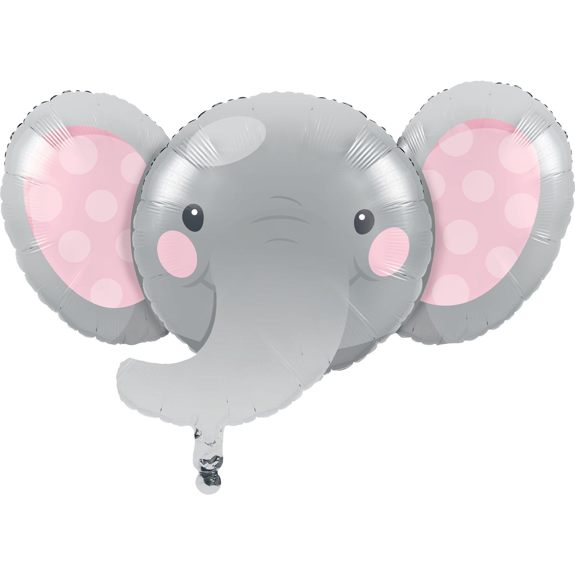 Enchanting Elephant Girl Shape 53cm x 89cm Foil Balloon