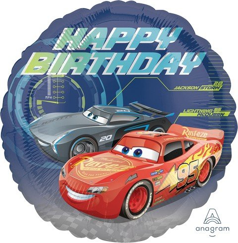 45cm Standard HX Cars 3 Happy Birthday S60