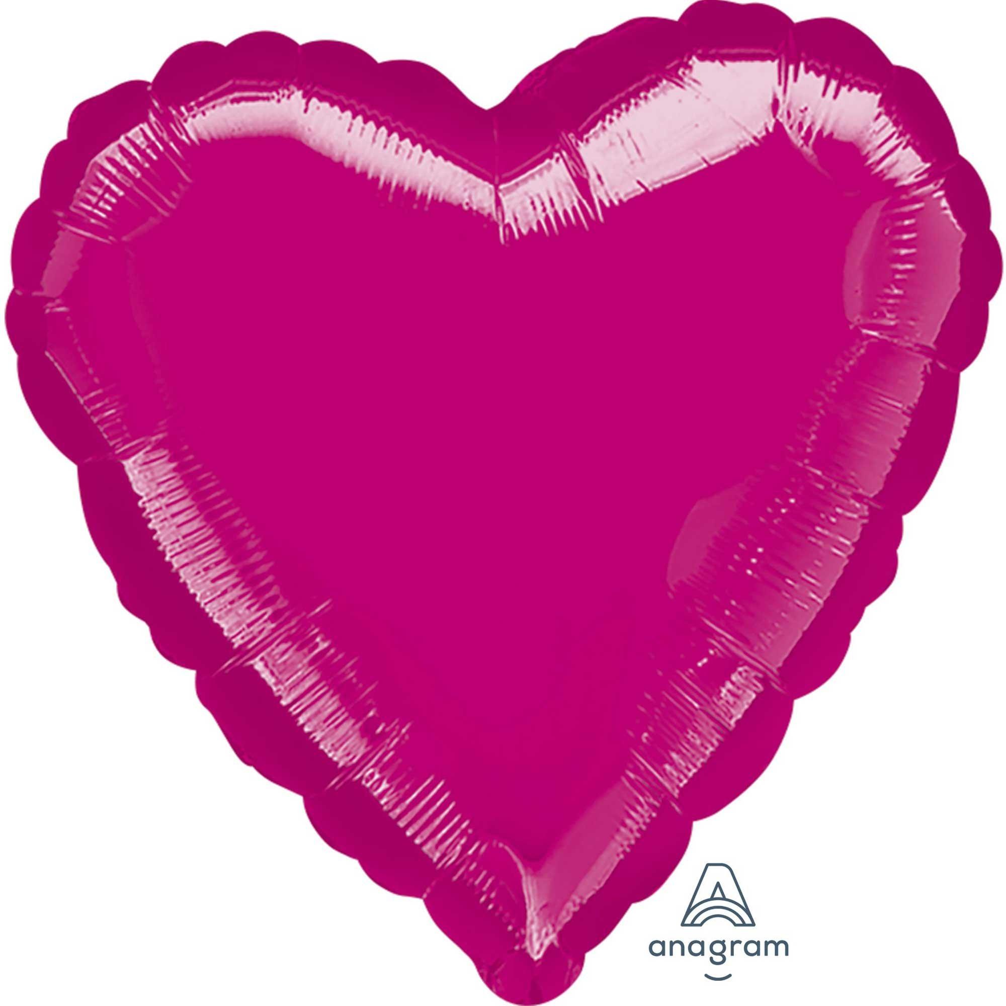 Jumbo Shape Heart Fuchsia P20
