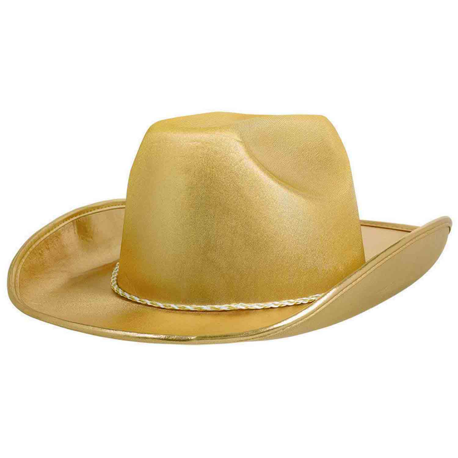 Cowboy Velour Hat - Gold