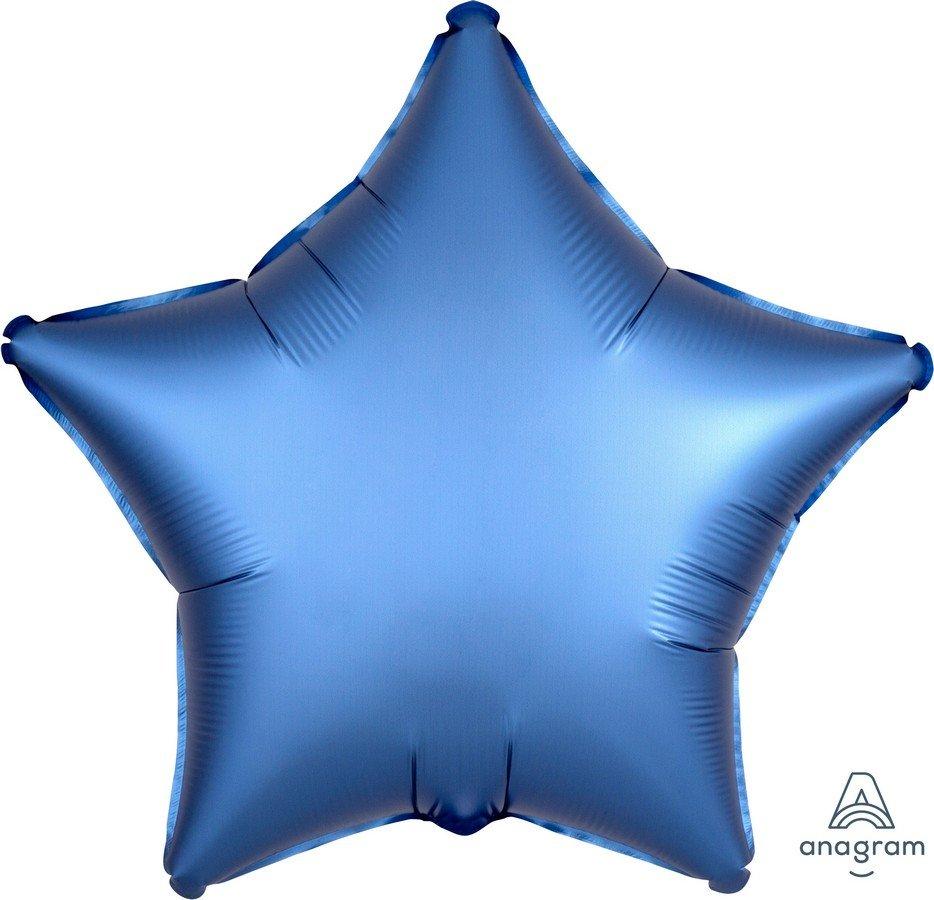 45cm Standard XL Satin Luxe Azure Star S15