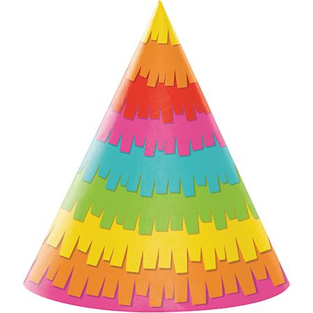 Fiesta Fun Cone Shaped Party Hats