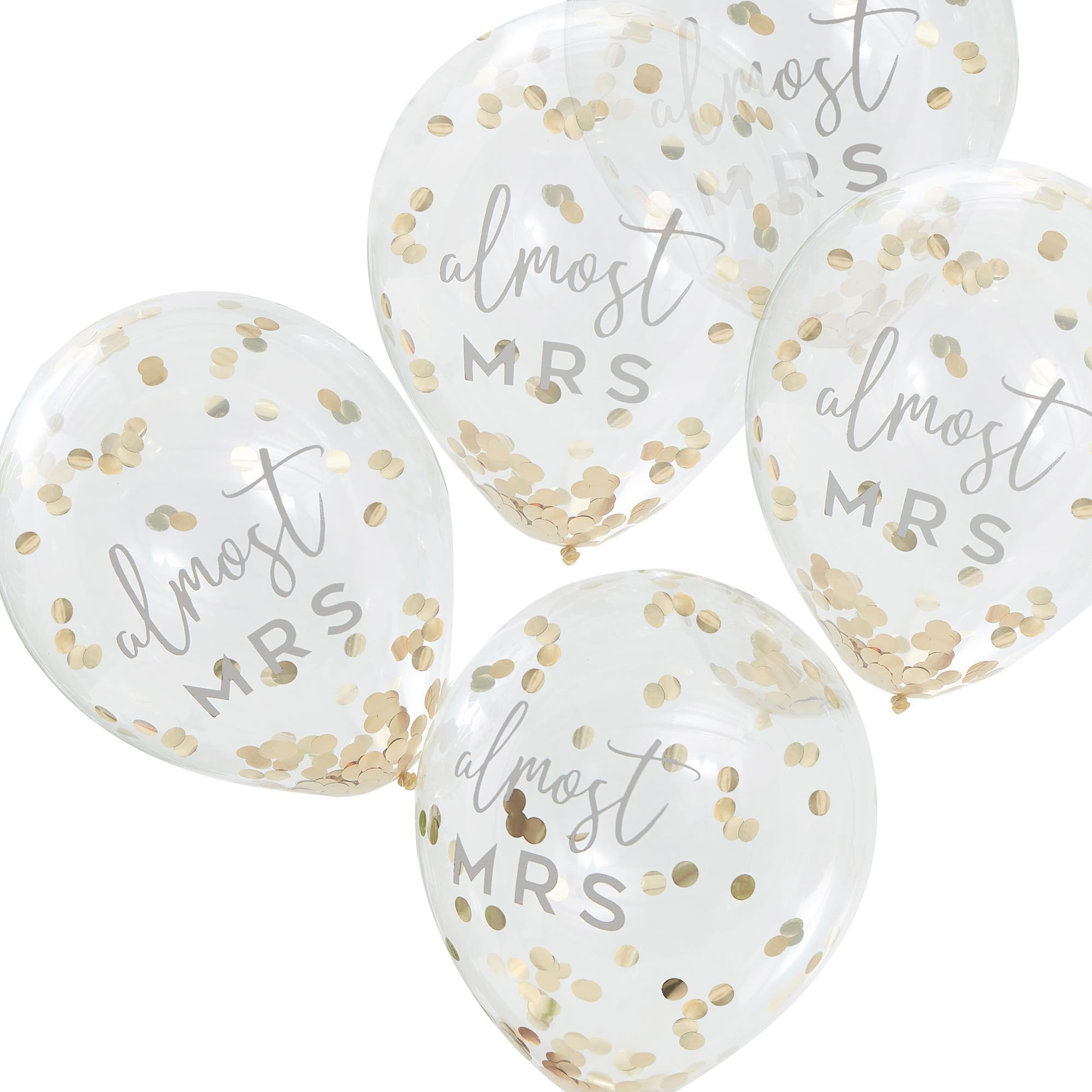 Botanical Hen Party Gold Confetti 30cm Latex Balloons almost MRS