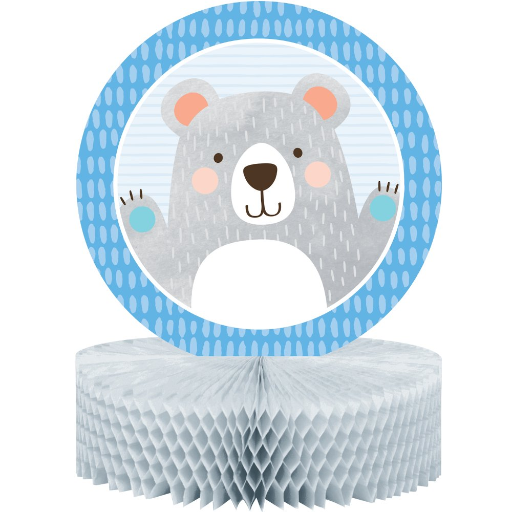 1st Birthday Bear Centrepiece Honeycomb 30cm x 23cm