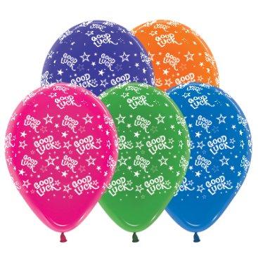Sempertex 30cm Good Luck Stars Crystal Assorted Latex Balloons, 25PK