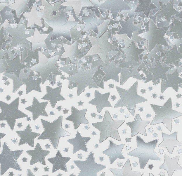 Star Confetti 70g -Silver