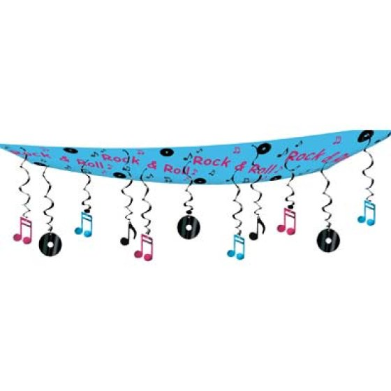50's Rock and Roll Ceiling Décor Hanging Decoration