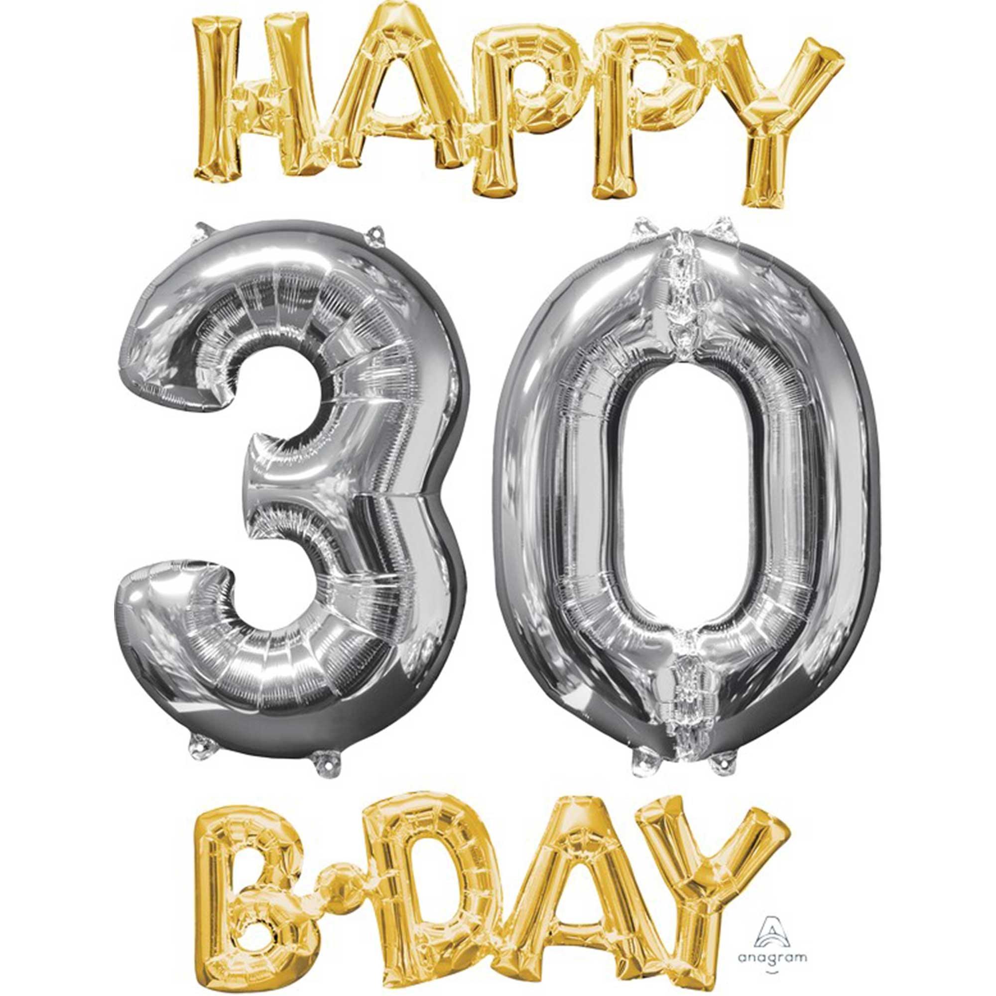 CI: Bunch Happy 30 Birthday Gold & Silver P75