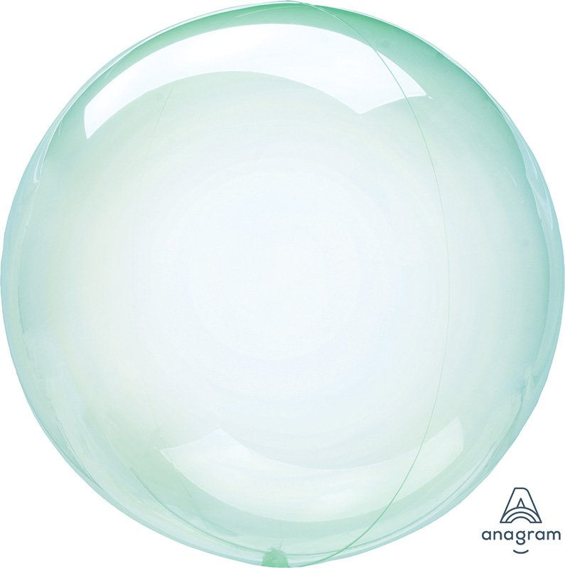 Crystal Clearz Petite Green Round Balloon S15