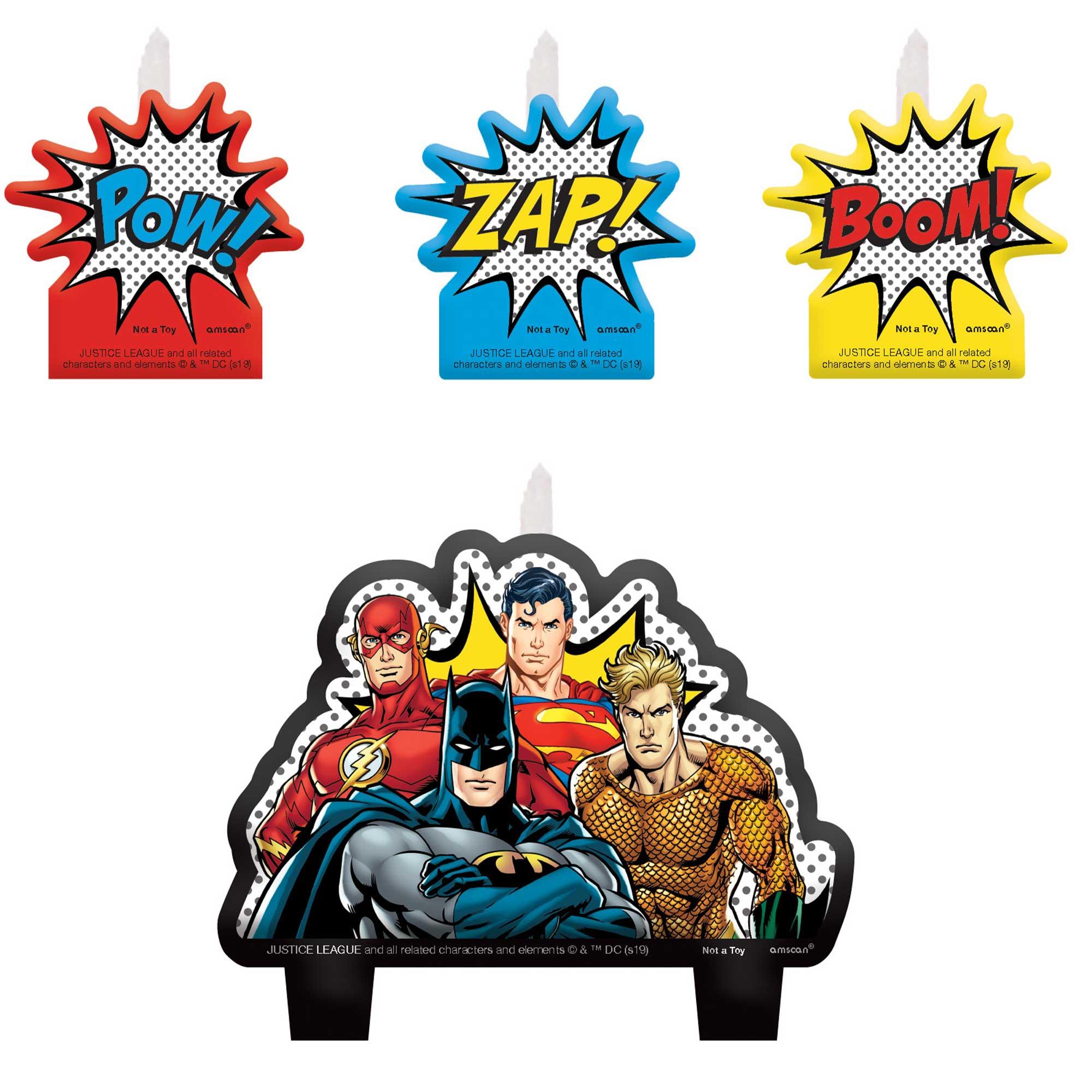 Justice League Heroes Unite Mini Moulded Candle Set