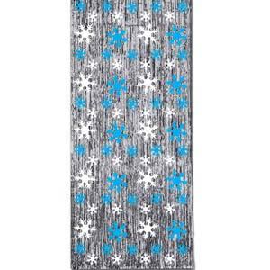 Door Curtain Snowflake Metallic