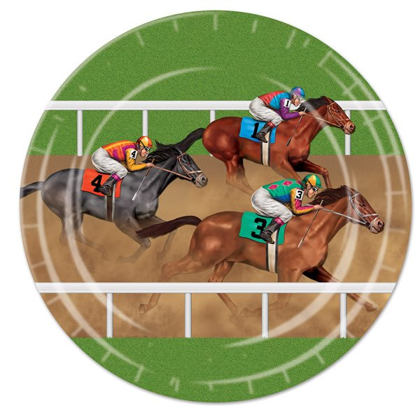 Horse Racing Dinner Plates