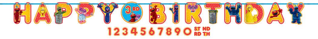 Sesame Street Ribbon Letter Banner