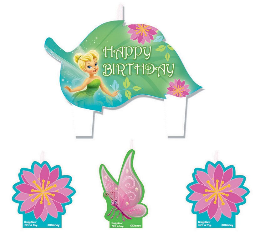 Tinker Bell Best Friend Fairies Birthday Candle Set