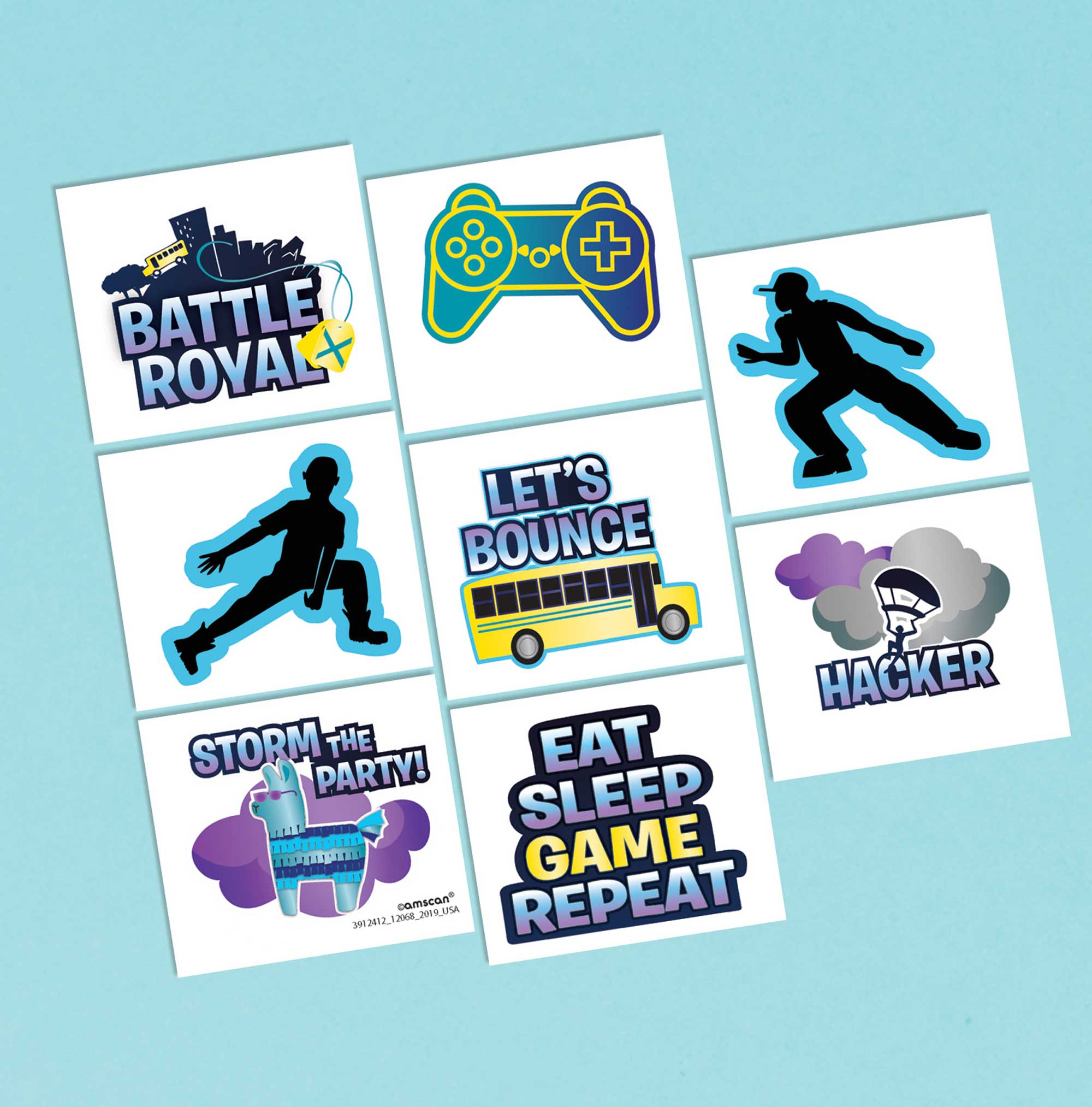Battle Royal Tattoo Favors Assorted Designs
