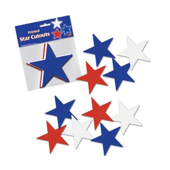 Stars Red, White & Blue Cutouts
