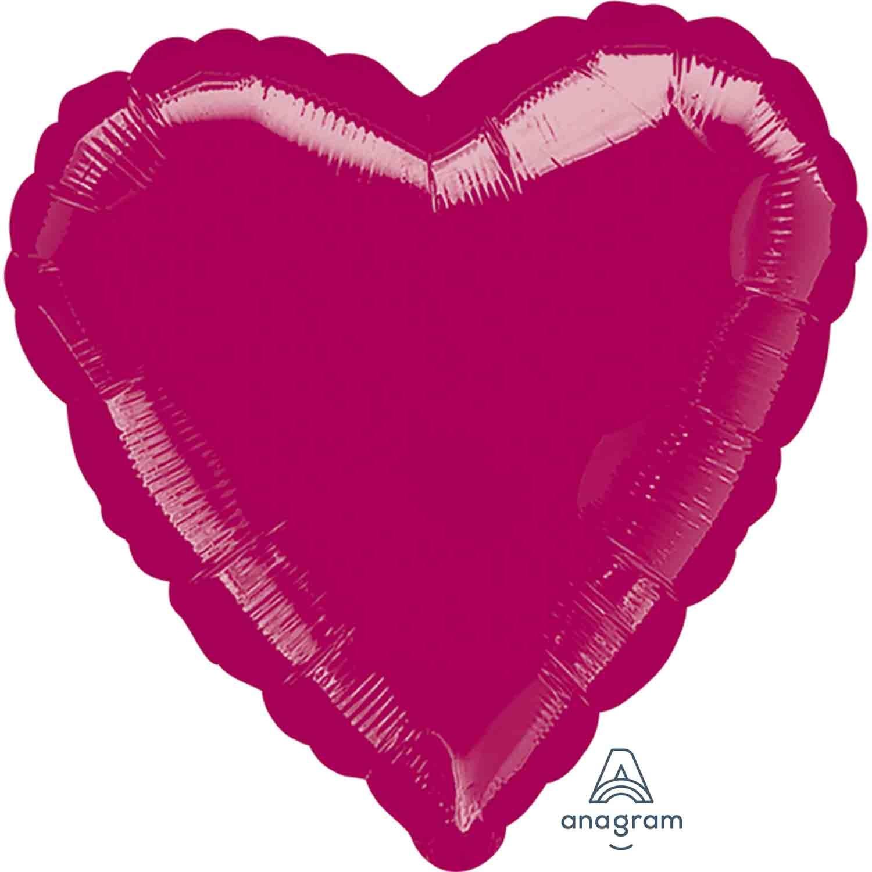 45cm Standard Heart XL Burgundy S15