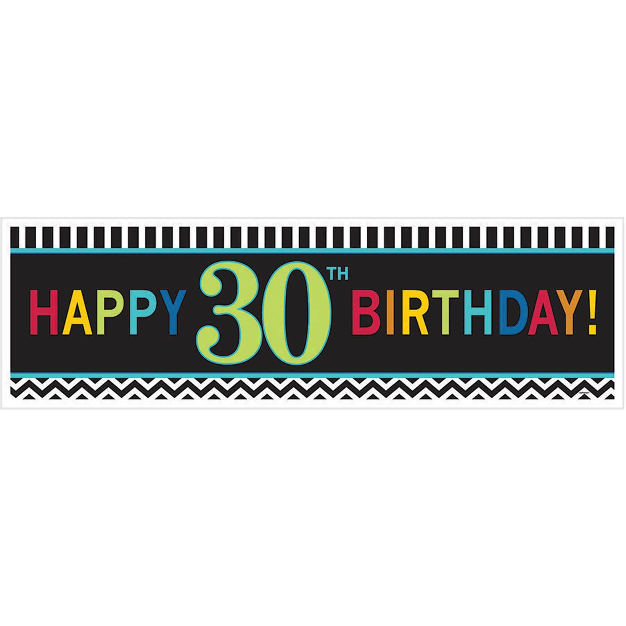 30th Birthday Celebration Giant Banner