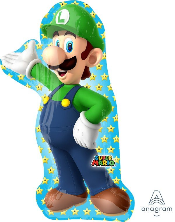SuperShape Super Mario Brothers Luigi P38