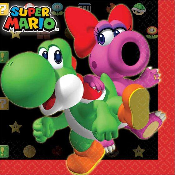 Super Mario Brothers Beverage Napkins