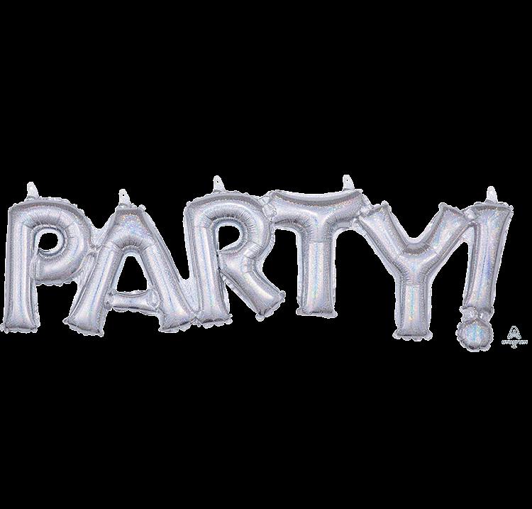 CI: Script Phrase PARTY! Silver Holographic G20