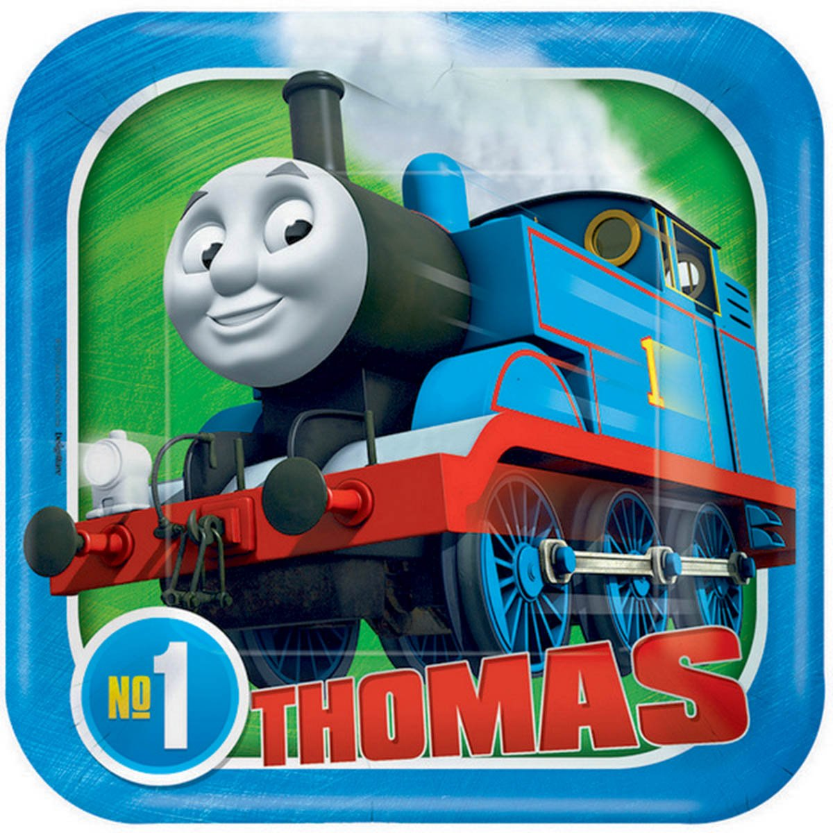 Thomas All Aboard 17cm Square Plate
