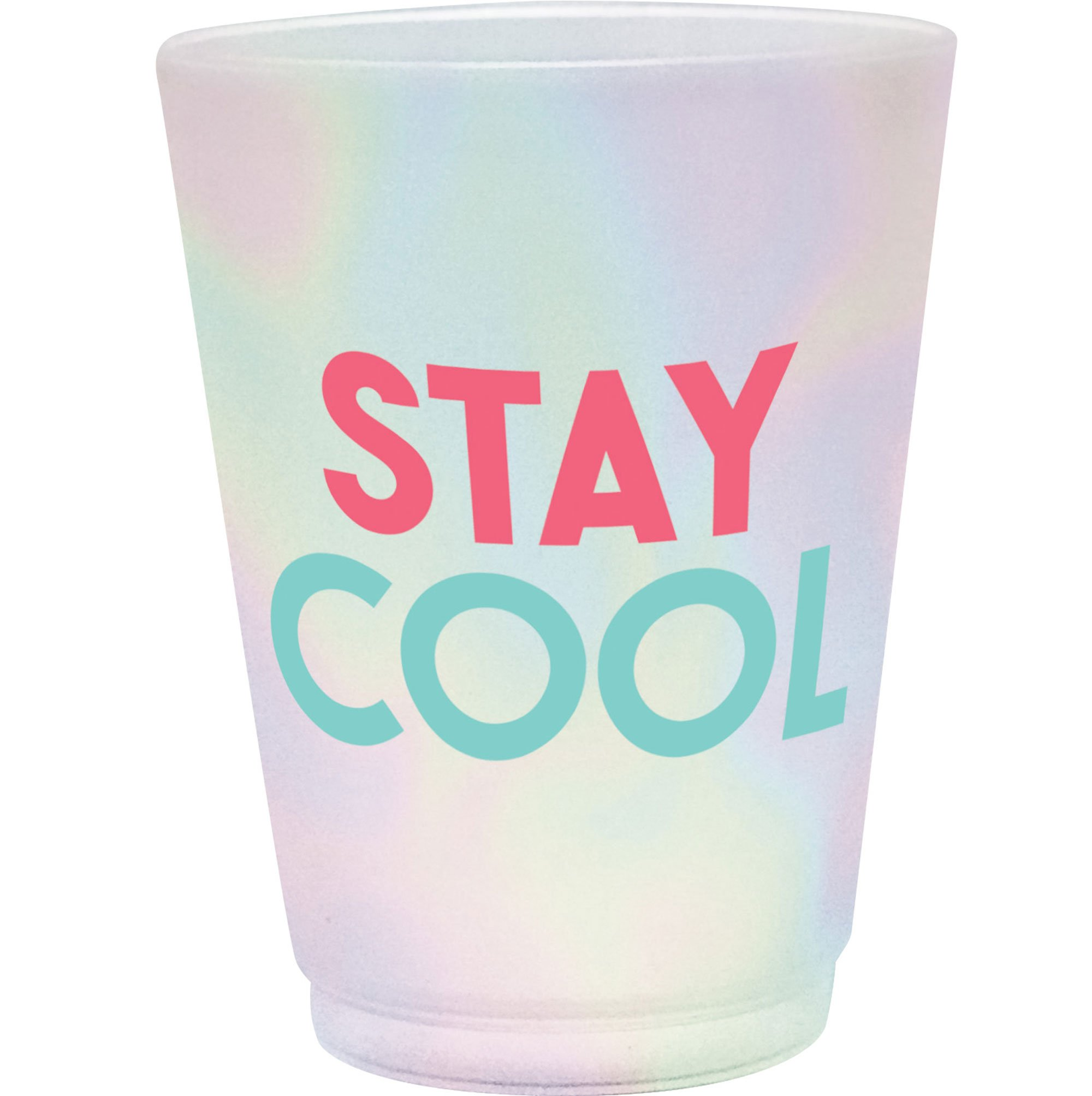 Just Chillin Frosted Plastic Tumblers Stay Cool