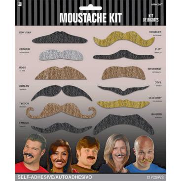 Moustache Kit - Let's Party