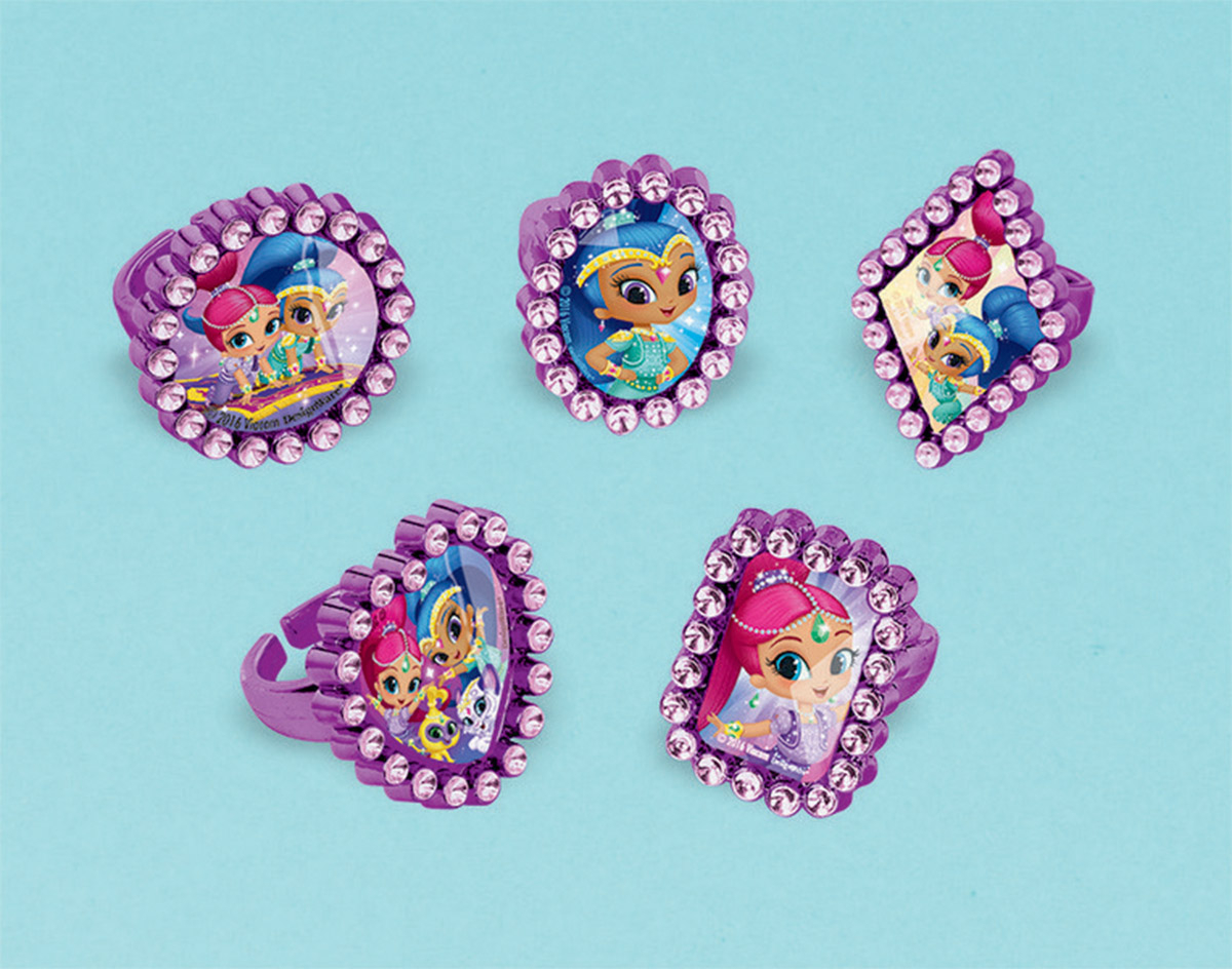 Shimmer and Shine Jewel Rings Favor