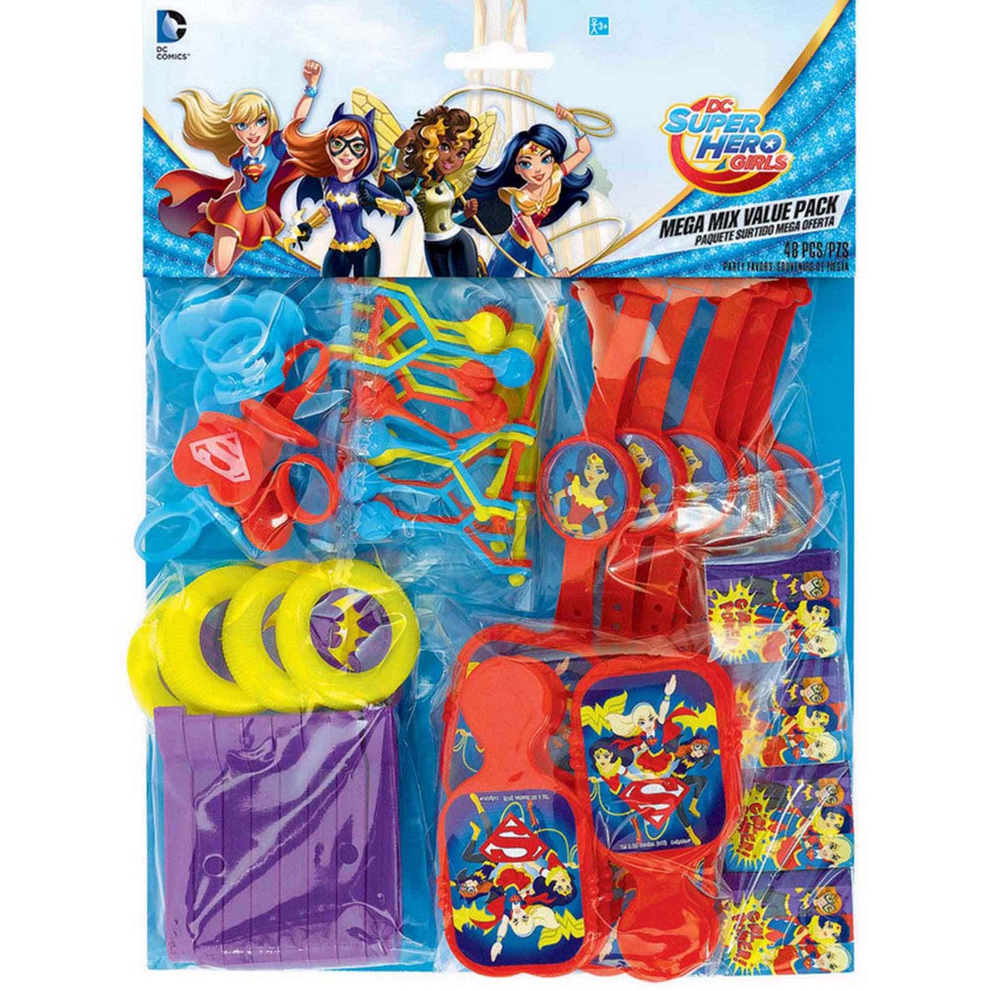 DC Superhero Girls Mega Mix Value Pack Favors