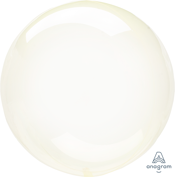 Crystal Clearz Yellow Round Balloon S40