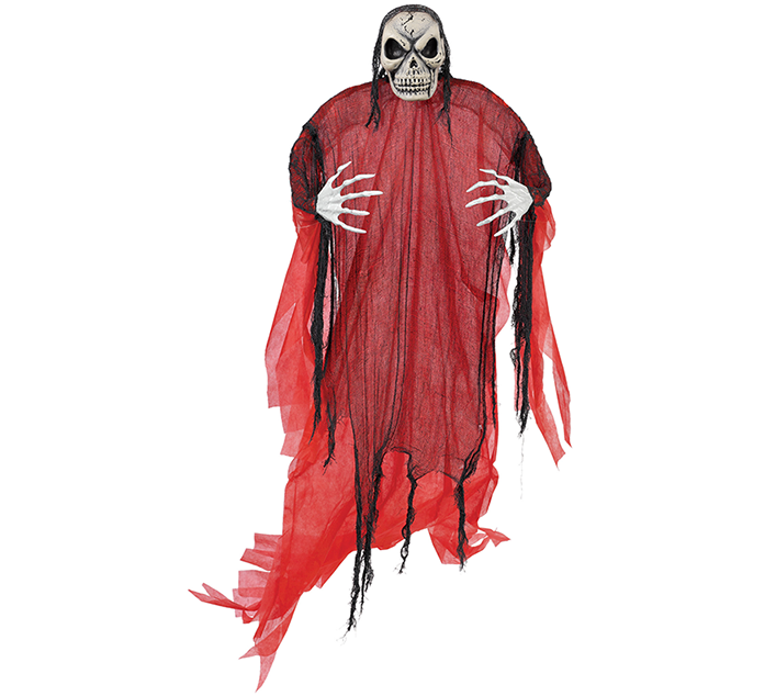 Life Size Red Reaper Hanging Prop Decoration Fabric & Plastic